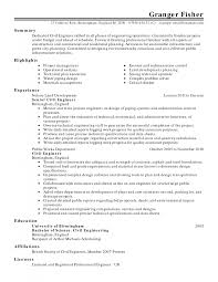 Cover Letter Engineer Resume Examples Project Engineer Resume