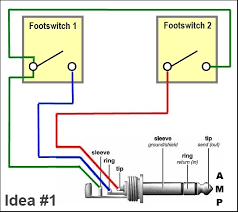 trying to build a simple amp channel switch telecaster guitar forum this is the basic idea behind a generic latching trs > 2 button footswitch