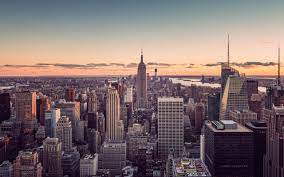 Sunset City New York Free Background ...