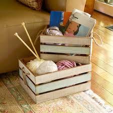 Elements Nesting Wood <b>Storage Crate Set</b>, <b>2</b>-pack