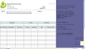 Billing Form Template Medical Invoice Template Uniform Invoice Software