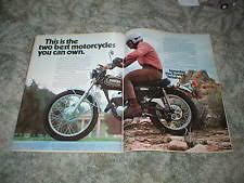 yamaha dt3 motorcycle parts 1973 yamaha dt3 250 enduro cycle ad 2 pg original