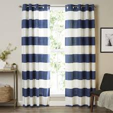 amazing navy and white striped curtains and navy blue and white horizontal striped curtains uk curtain