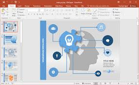Puzzle Brain Powerpoint Template - Fppt