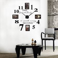extra large picture frame wall clock