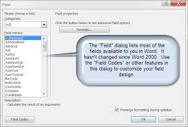 Microsoft Word Update All Fields Word Fields