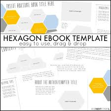 book publishing templates hexagon ebook template and next comes l