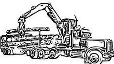 logging coloring pages logging truck colouring pages rocks pinterest silhouette