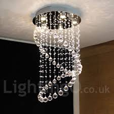 5 lights modern led crystal ceiling pendant light indoor chandeliers home hanging down lighting lamps fixtures