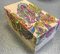 Plain Wooden Boxes To Decorate Add Some Color to a Wooden Recipe Box Hometalk 43