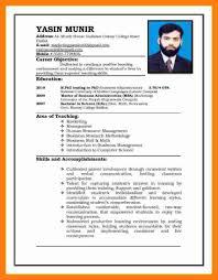 Cv Pattern Pattern Of Resume Cv Pattern Resume Format