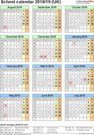 Microsoft Word Calendar Template School Year School Calendar