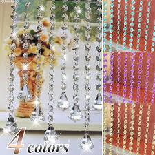 wish romantic crystal clear acrylic bead garland chandelier hanging wedding supplies acrylic crystal rhinestone bead garland curtain chandelier