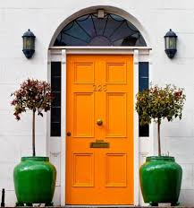Orange front door Modern Orange Front Door Style Curator Orange Front Door Style Curator
