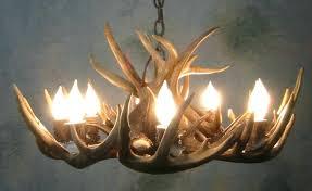 antler lighting peak round whitetail deer antler chandelier 8 light antler lighting