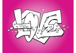 romantic love graffiti free vector art stock graphics images