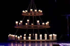 rustic candle chandelier lighting