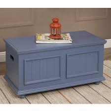 John Boyd Designs Notting Hill Storage Trunk Homepop Nh Tk02 Fb Notting Hill Wood Top Storage Trunk French Blue