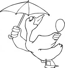 Small Picture Umbrella Bird coloring page Animals Town animals color sheet