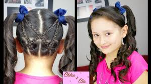 Pigtails Hair Style accented crisscross pigtails sport hairstyles cute girly 4553 by wearticles.com