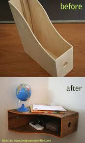 Magazine Holders For Bookshelves Beauteous Wooden Magazine Holder To Shelf Craft And DIY Pinterest