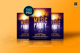 Design Flyers On Android Free Music Party Flyer On Behance