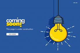 Coming Soon Landing Page Bulb Vector Illustration Vector