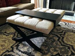 black ottoman coffee table cloth awesome ottomans covers leather storage bench lacquer full baxton studio