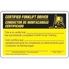 Certification For Forklift License Balboastationplan Org