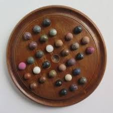 Game With Wooden Board And Marbles 100th Century Marble Solitaire Board Game with 100 Handmade Marbles 7