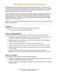 Situational Based Interview Questions Behavioral Interviewing Questions University Of The Pacific