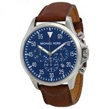 michael kors gage chronograph blue dial brown leather men s watch michael kors gage chronograph blue dial brown leather men s watch mk8362
