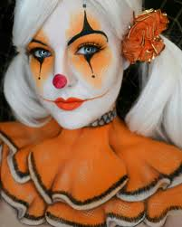 Girl Clown Face Designs Pretty Clown With Neck And Chest Detail Clown Makeup