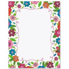 Flower Border Designs For Paper 10 Flower Border Design Paper Images Flower Page Border Clip Art
