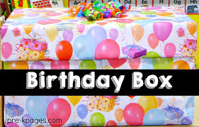 birthday box to supplies for celebrating birthdays in preschool and kindergarten