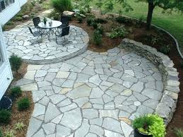 flagstone patio cost large size of how to install stone per square foot