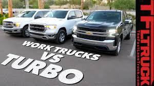 Work Truck Wars: 2019 Chevy Silverado 4-Cylinder Turbo vs Ford F150 ...
