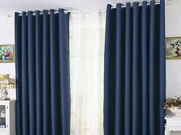 Blue Curtains For Bedroom Luxury Modern Linen Cotton Blue Blackout Bedroom  Curtains