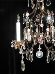 ch76 small antique venetian colored crystal 4 light chandelier 3 ch76