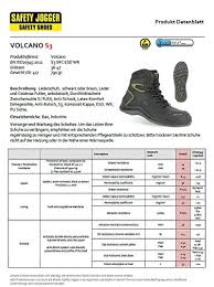 Safety Jogger Size Chart Safety Jogger Volcano S3 Src Wr Esd Metal Free Safety Boot