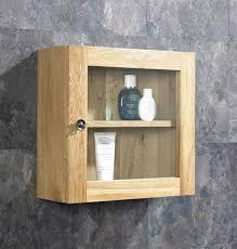 380mm square solid oak bathroom storage