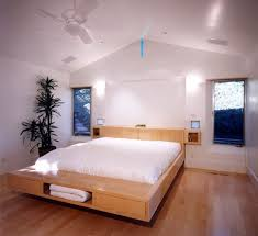 ... Floating bed design with storage units underneath
