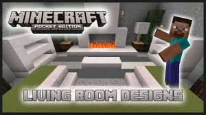 Minecraft Living Room Designs Minecraft Pocket Edition Interior Design Living Room Tutorial