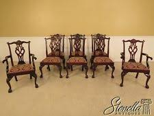 stickley dining room l set of  stickley chippendale mahogany dining room chairs
