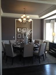 grey dining room chairs. simple and elegant #diningroom in gray with round dining table. grey room chairs