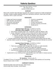 Warehouse Objective Resume Manager Resume Objective Examples Unforgettable Assistant Store 80