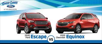There are four trim levels: 2020 Ford Escape Vs 2020 Chevy Equinox