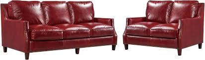 Georgetowne Oakridge Red Leather Living Room Set