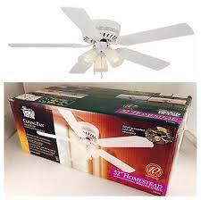 new in box design house 156596 millbridge 52 ceiling fan with light white