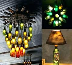how to make a glass bottle chandelier lighting ideas recycled bottles as chandeliers and lamps empty how to make a glass bottle chandelier